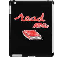 Read Me in Red iPad Case/Skin