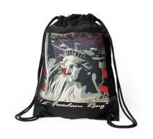 american freedom Drawstring Bag