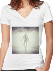 Head in Fashion Women's Fitted V-Neck T-Shirt