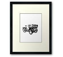 Trike Fixie Framed Print