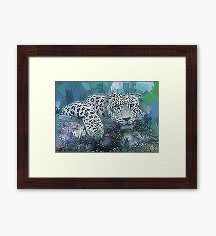 Leopard Abstract Framed Print