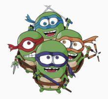 Teenage Minion Ninja Turtles Baby Tee