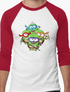 Teenage Minion Ninja Turtles Men's Baseball ¾ T-Shirt