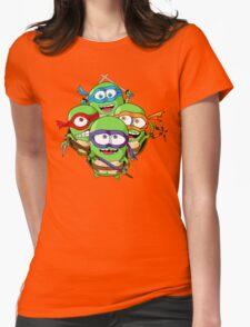 Teenage Minion Ninja Turtles Womens Fitted T-Shirt