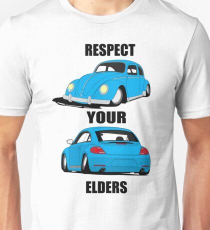 Respect your Elders-Blue Ink Unisex T-Shirt