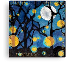 firefly dance Canvas Print