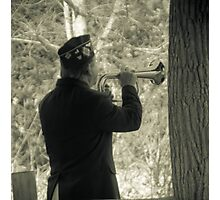 Memorial day service ends with Taps Photographic Print