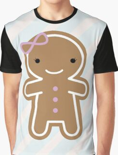 Cookie Cute Gingerbread Girl Graphic T-Shirt