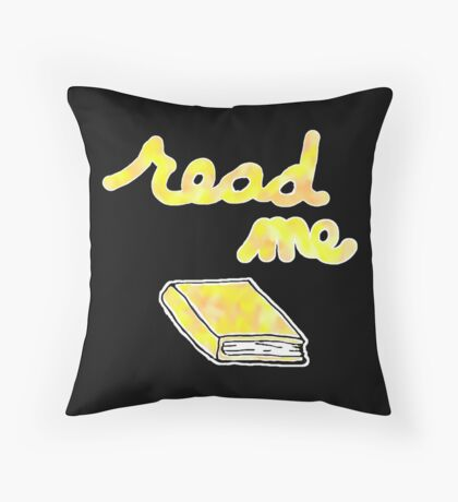 Read Me in Yellow Throw Pillow