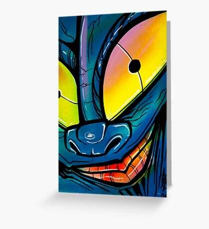 graffiti ghost Greeting Card
