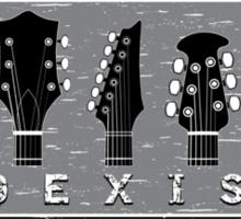 Guitar Coexist - Black and White Sticker