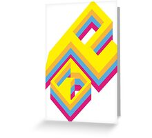 Geometrical Design Greeting Card