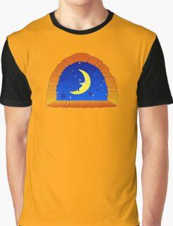 Night Window Graphic T-Shirt