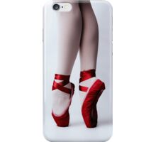 Red Pointe Shoes iPhone Case/Skin