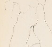 Kneeling female nude by Bridgeman Art Library