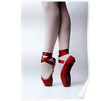 Red Pointe Shoes Poster