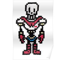 Papyrus, Undertale 8-bit to Cross stitch <3 Poster