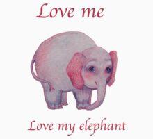 Love me Love my elephant Kids Clothes