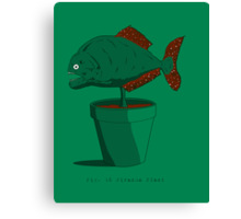 Piranha Plant Canvas Print
