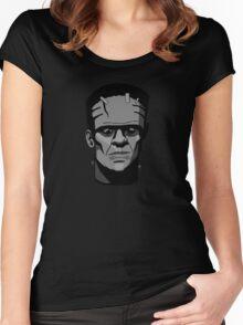 Boris Karloff inspired Frankenstein's Monster Women's Fitted Scoop T-Shirt