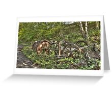 Wheel Decay Greeting Card