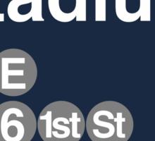 Yankee Stadium Subway Sign w Sticker