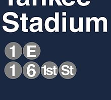 Yankee Stadium Subway Sign w by rembraushughs