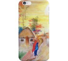 Indian village mornings iPhone Case/Skin