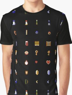 Zelda - The Items Without Text Graphic T-Shirt