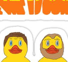 We're Ducked Sticker