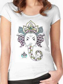Ganesh the Elephant Women's Fitted Scoop T-Shirt