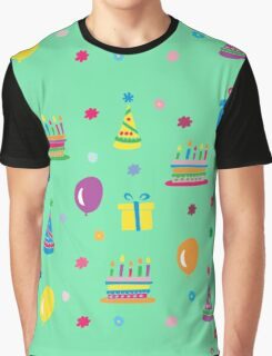 Colorful Birthday Graphic T-Shirt