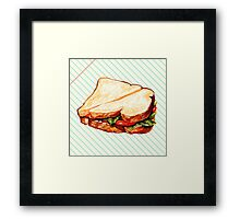 Lunch Room Sandwich Framed Print