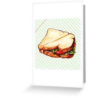 Lunch Room Sandwich Greeting Card