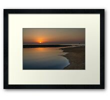 Sunrise over Fuengirola, Andalusia, Spain Framed Print
