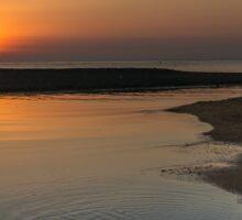 Sunrise over Fuengirola, Andalusia, Spain Sticker