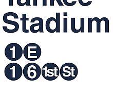 Yankee Stadium Subway Sign w by rembraushughs
