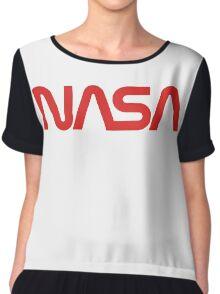 NASA Worm Logo Chiffon Top