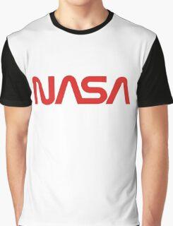 NASA Worm Logo Graphic T-Shirt