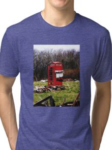 The Red Telephone Box in the Woods Tri-blend T-Shirt