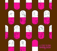 Sherlock Minimalist poster-style Shirts and Art-A Study in Pink, S1E1 by ShubhangiK