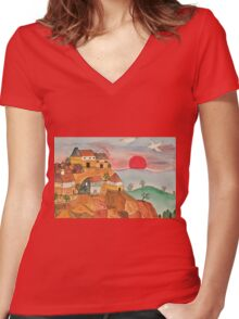 Naive Women's Fitted V-Neck T-Shirt