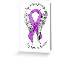 Domestic abuse survivor shirt Greeting Card