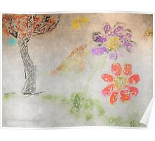 Sun Tree Mountain Flower Ancient Origins Poster