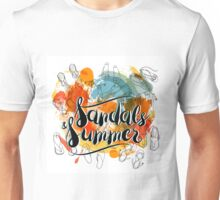 Sandals and Summer Unisex T-Shirt