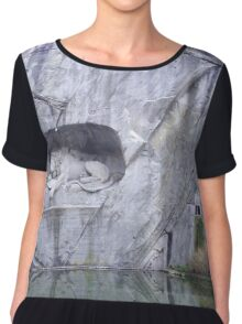 The Lion Of Lucerne Chiffon Top