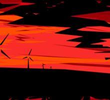 Sunset windmills Sticker