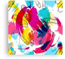 Summer disco shoes abstraction Canvas Print