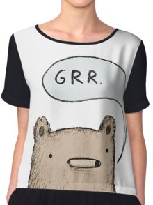 Growling Bear Chiffon Top