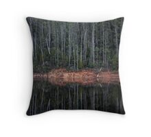Green Forest Reflection Throw Pillow